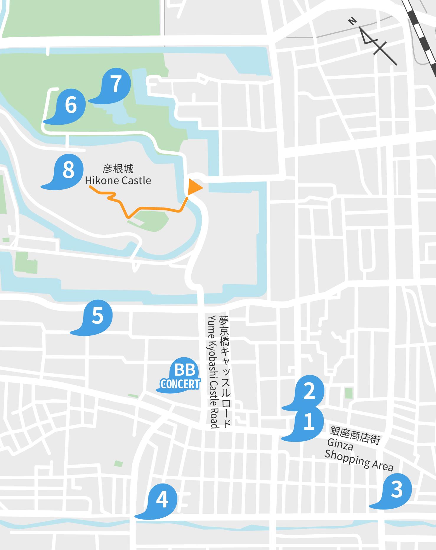 HIKONE AREA MAP