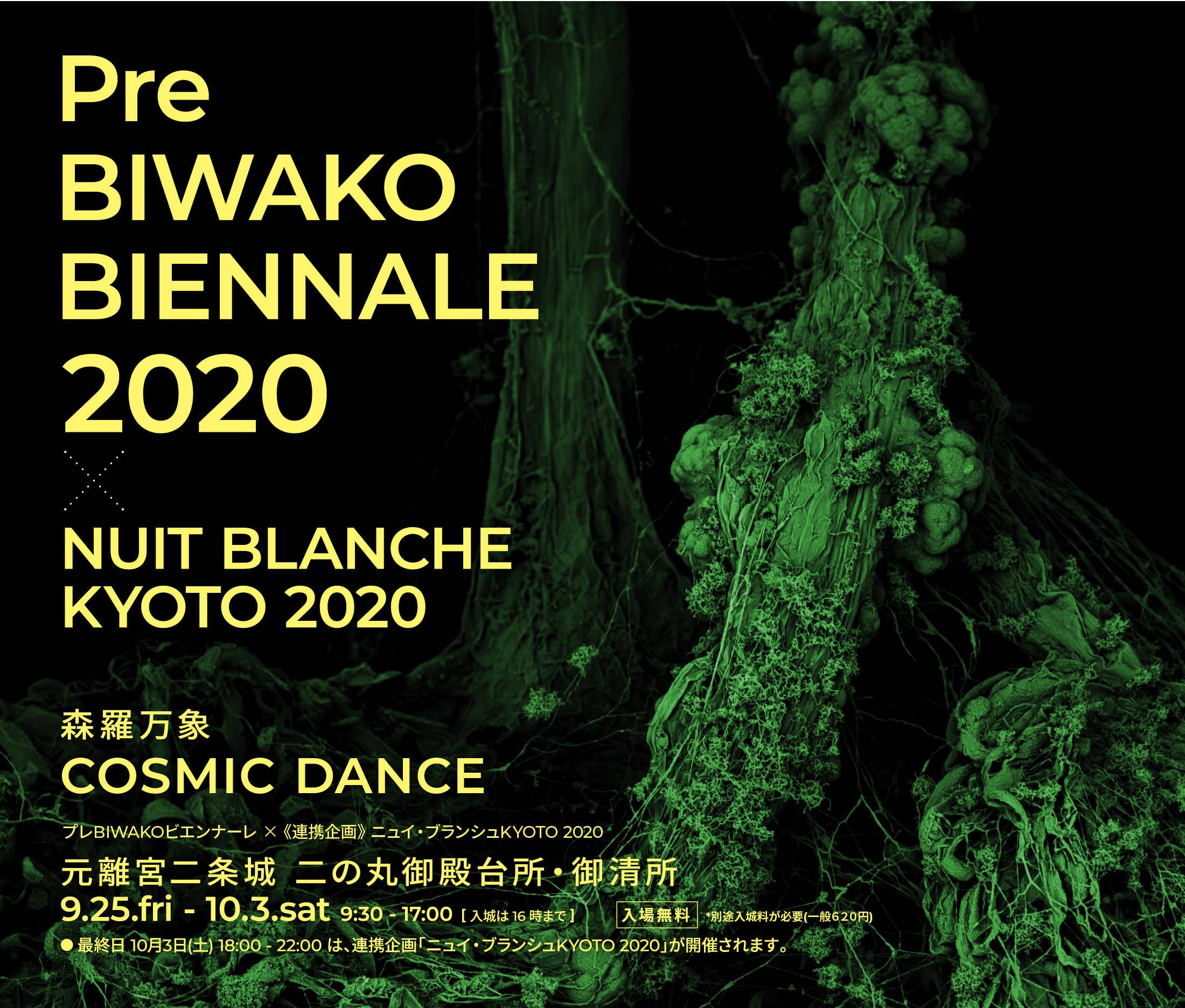 9月25日(金) 〜 10月3日(土)京都 二条城で《プレBIWAKOビエンナーレ2020 × ニュイ・ブランシュKYOTO 2020》開催します!
